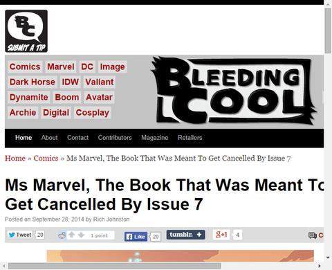 「ミス・マーベル #7」でキャンセルされるはずだった!