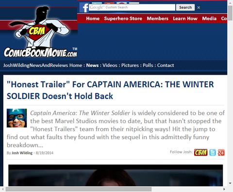 キャプテン・アメリカ:ウィンターソルジャーの正直なトレーラーが公開!