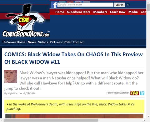 ブラック・ウィドウ #11のプレビュー!