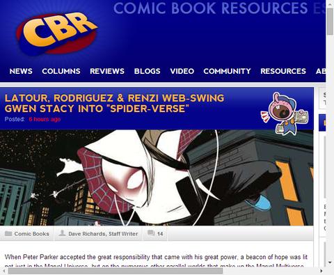 エッジ・オブ・スパイダーバース #2にグウェン・ステーシーのスパイダーウーマン登場!