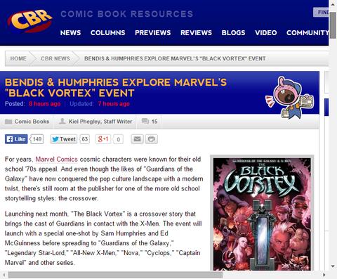 クロスオーバーイベントの「ブラック・ヴォルテックス」についてのカバーやコンセプト画像!