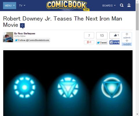 ロバート・ダウニー・Jrがアイアンマン4を暗示させる!?彼がアイアンマンの続編をからかう!