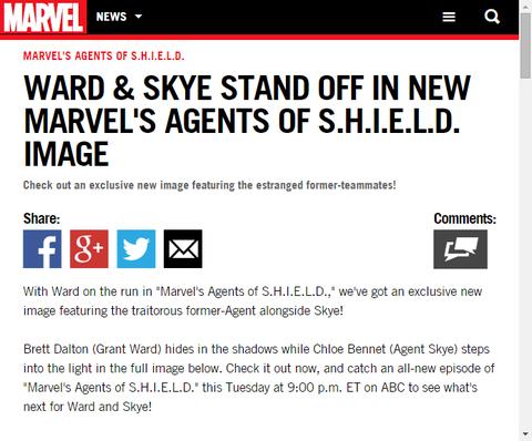 明暗に立つウォードとスカイの「エージェント・オブ・シールド」の新たなイメージ画像!