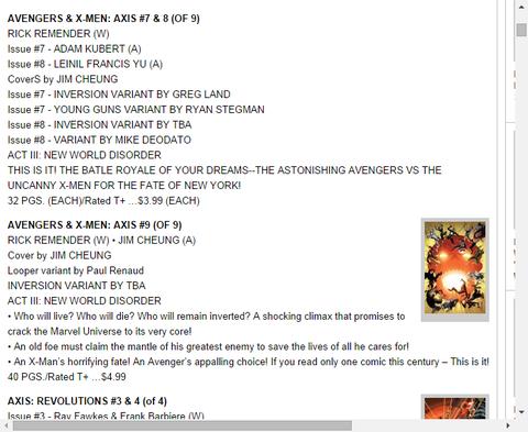アベンジャーズ&X-MEN:アクシス #9のプレビュー!