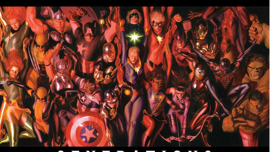 マーベルキャラクターの世代間を扱う『マーベル・ジェネレーションズ』の新たなカバーが公開!