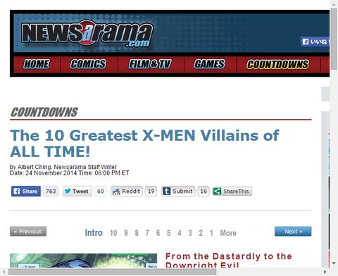 空前のX-MENで最も偉大な10人のヴィラン!