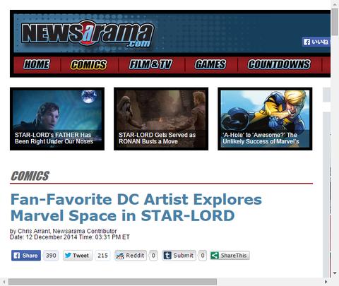 ファンお気に入りのDCアーティストはスターロードでマーベルの宇宙を調査する!
