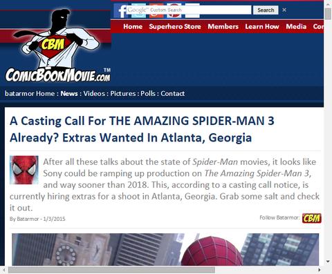 すでにアメイジング・スパイダーマン3のキャスティング募集中!?さらにアンドリュー・ガーフィールドとデイン・デハーンの名前が!