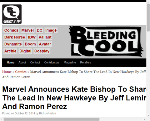 【NYCC】マーベルが新たな「ホークアイ」シリーズをジェフ・レミアとレイモン・ペレスで開始することを発表!