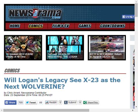 ローガン・レガシーからX-23が次のウルヴァリンとみなすか!?ティム・シーリーのインタビュー!