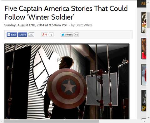 映画ウィンターソルジャーの後を追うキャプテン・アメリカの原作5つのストーリー!