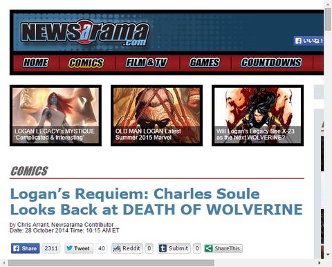 チャールズ・スーレはウルヴァリンの死を振り返る!