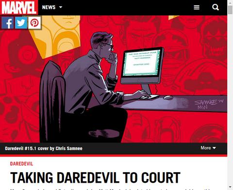 マット・マードックの法廷での戦いを描く「デアデビル #15.1」に関してグッゲンハイムとクラウゼのインタビュー!