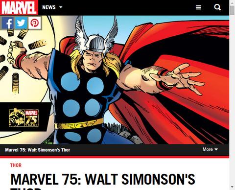 マーベル 75:ウォルト・サイモンソンのソーを振り返る!