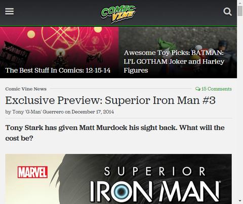 マットの選択するものとは!?スペリアー・アイアンマン #3のプレビュー画像が更新!