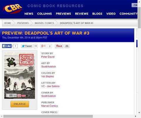 続くデッドプールの兵法伝授!デッドプールズ・アート・オブ・ウォー #3のプレビュー!