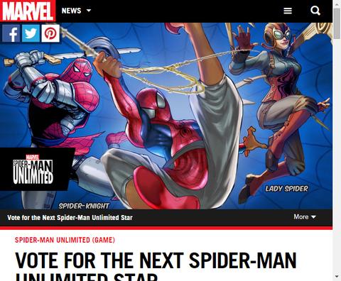 ゲーム「スパイダーマン・アンリミテッド」にスパイダーバースから新たな3人のスパイダーマンが登場!