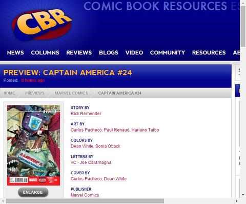 キャプテン・アメリカ #24のプレビュー!