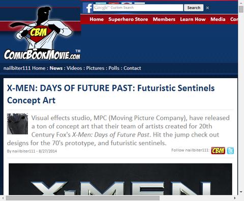 映画X-MEN:デイズ・オブ・フューチャー・パストの未来センチネルのコンセプトアートが公開!