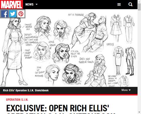 リッチ・エリスによる「オペレーション・シン」のスケッチブックが公開!