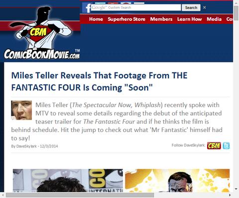 マイルズ・テラーがリブート版「ファンタスティック・フォー」が『すぐに』来ていると明かす!