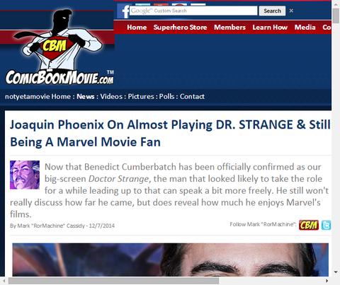 ほとんど演じることになっていたホアキン・フェニックスがまだマーベル映画ファンであることを言及!