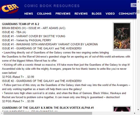 ガモラ、ロケット、ブラックウィドウ、ホークアイは一緒に問題を解けるのか!?ガーディアンズ・チームアップ #2のプレビュー!