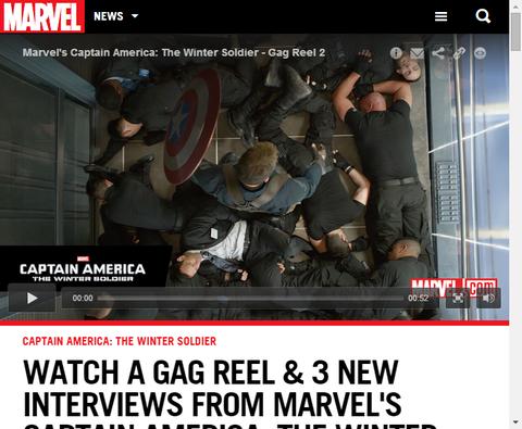 キャプテン・アメリカ:ウィンターソルジャーの3つの新たなインタビュー映像!
