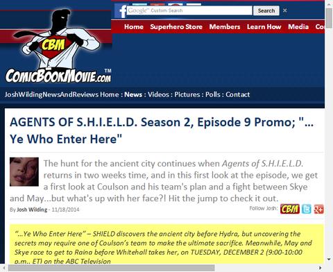 ドラマ「エージェント・オブ・シールド」シーズン2 エピソード9のプロモ映像が公開!