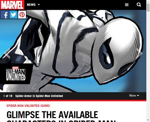 ゲーム「スパイダーマン アンリミテッド」に新たなスパイダーマンのバージョンが登場!
