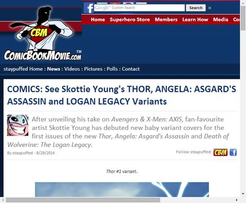 スコッティ・ヤングが描くソー、アンジェラ、ローガン・レガシーのヴァリアントカバー!