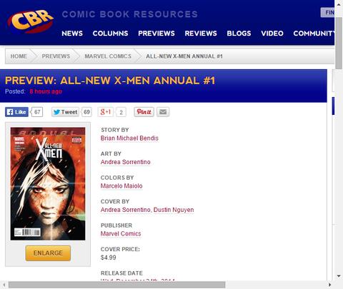 続くエヴァ・ベルの冒険!オールニュー・X-MEN アニュアル#1のプレビュー画像が更新!