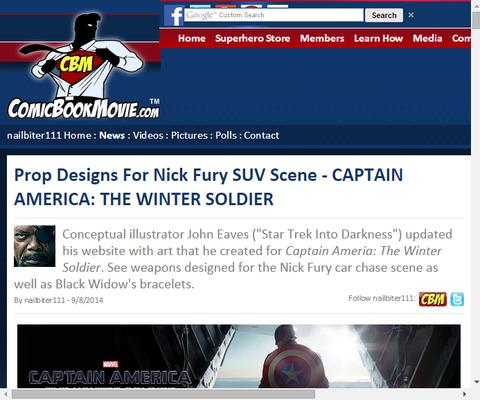 映画「キャプテン・アメリカ:ウィンターソルジャー」のニック・フューリーのSUVのプロプ・デザインが公開!