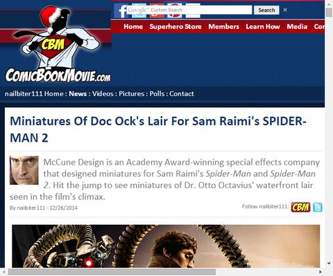 映画「スパイダーマン2」のドクター・オクトパスの隠れ家のミニチュア作成風景が公開!