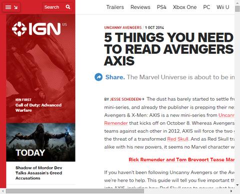 あなたが「アベンジャーズ&X-MEN:アクシス」を読みために知っておく必要がある5つのもの!