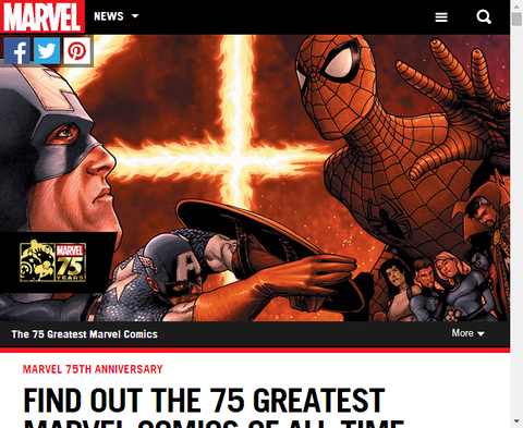 これまでで最も素晴らしい75のマーベルコミックとは!?