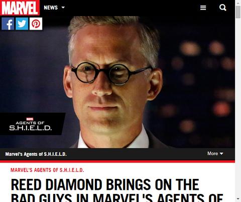 ドラマ「エージェント・オブ・シールド」でダニエル・ホワイトホールを演じるリード・ダイヤモンドのインタビュー!