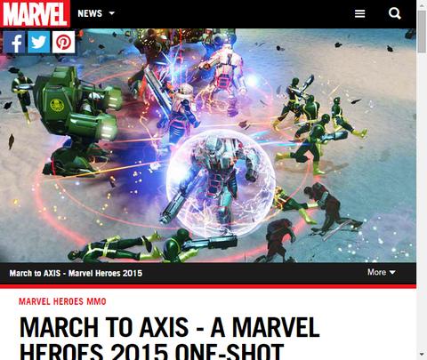 マーベル・ヒーローズ 2015のマーチ・トゥ・アクシスのトレイラーと画像を公開!