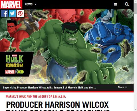 アニメ「ハルク・アンド・ザ・エージェント・オブ・スマッシュ」のプロデューサーのハリソン・ウィルコックスのシーズン2に関するインタビュー!