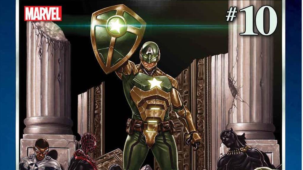 『シークレット・エンパイア』が10号に増加し最終号のカバーが公開!ヒドラカラーのキャプテン・アメリカ!