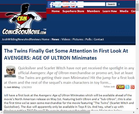 映画「アベンジャーズ:エイジ・オブ・ウルトロン」のミニメイツが初公開!