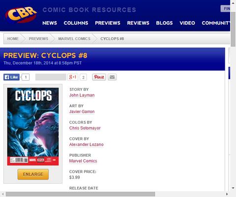 凶悪な宇宙海賊!サイクロプス #8のプレビュー画像が更新!