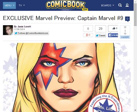 キャプテン・マーベル #9のプレビュー画像が更新!