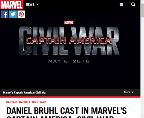 ダニエル・ブリュールが映画「キャプテン・アメリカ:シビル・ウォー」に加わる!
