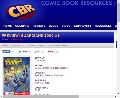 ガーディアンズ 3000 #3のプレビュー画像が更新!