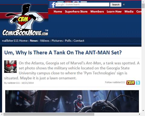 映画「アントマン」のセット画像がまたも判明!今度は戦車が!?