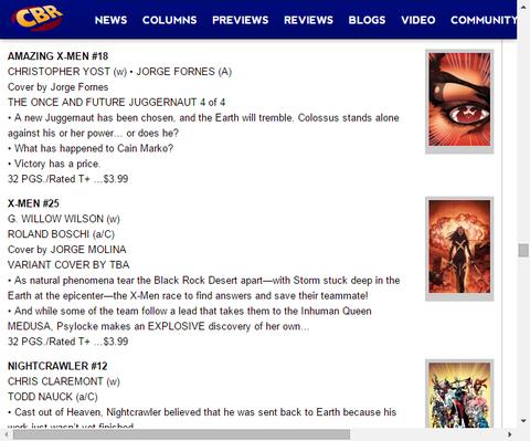 新たなジャガーノートは誰だ!?アメイジング・X-MEN #18のプレビュー!