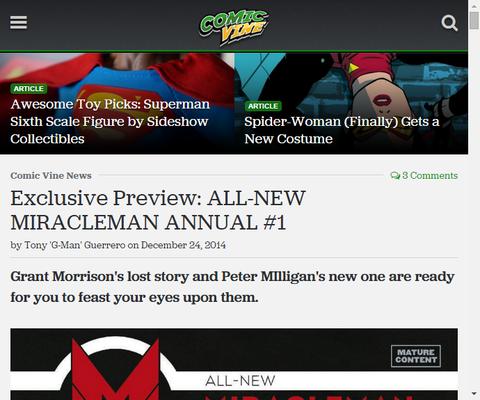 失われたミラクルマンストーリー!オールニュー・ミラクルマン アニュアル #1のプレビュー画像が更新!
