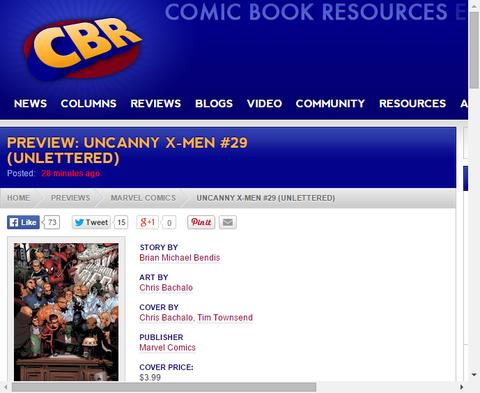 アンキャニー・X-MEN #29のプレビュー画像が公開!