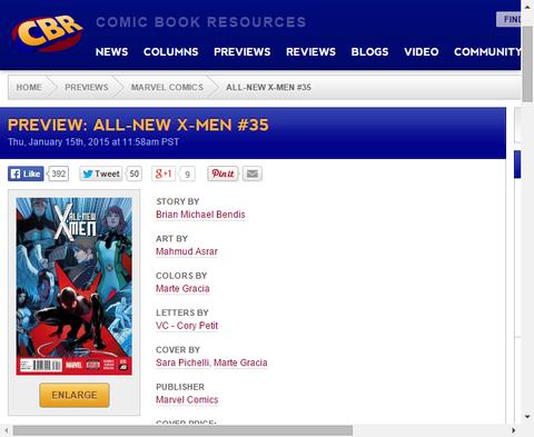 マイルズと多くのアルティメットキャラクター!オールニュー・X-MEN #35のプレビュー画像が更新!